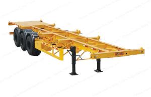 3 Transport-Behälter-Skeleton flaches Bett-halb Schlussteil der Wellen-40FT für Behälter-Transport