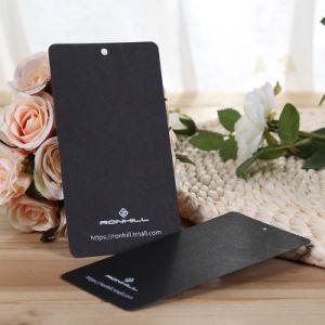 Cartulina negra colgar prendas de vestir ropa de etiqueta Hangtags