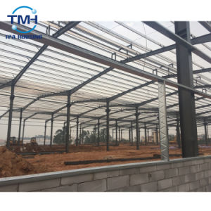 Diseño de la construcción de estructura de acero Preparada de Almacén