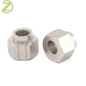 L'Arbre en acier inoxydable de gros en laiton à tête hexagonale en acier inoxydable de l'injecteur de l'écrou du manchon en aluminium usiné Sleevethreaded