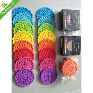 Oito cores da capa de borracha de PVC Coaster