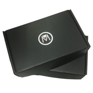 precio de fábrica OEM Negro mate Caja de cartón ondulado para uso de correo