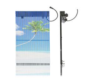 Прозрачная хорошую вентиляцию P25мм P31мм сетка шторки светодиодный дисплей