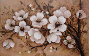 Peinture d'huile de fleurs décoratives-7
