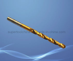 Le titane la queue de foret de torsion droite HSS DIN340 (371900)