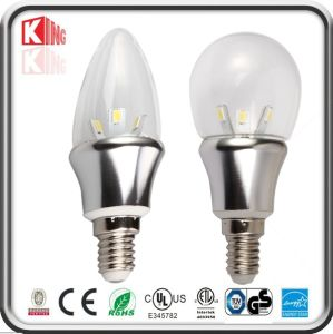3W Dimmable LED Candle Lamp, E12/E14 LED Bulb