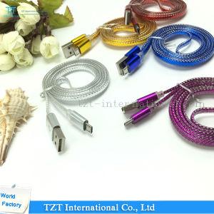 Cable micro del USB del teléfono móvil de la alta calidad para Samsung/el iPhone (Tipo-f)