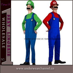 L'Halloween de luxe pour hommes Mario Luigi carnaval costumes Éléments (0050)