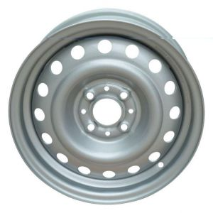 14X5.5j (4-98) Silver nieve de la llanta de acero