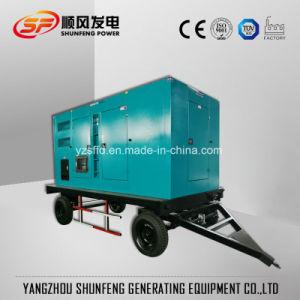Tipo mobile generatore silenzioso del rimorchio del diesel di energia elettrica di 300kw Cummins