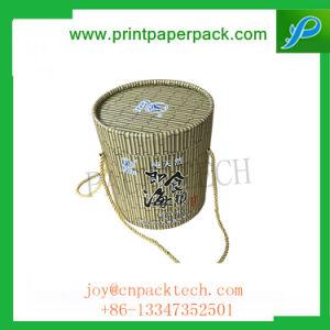 Kraft marrón natural sombrero redondo de papel cartón Caja de regalo