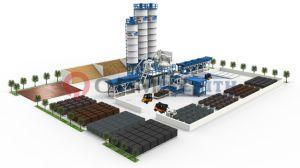 Alemania Zenith 844 multicapa totalmente automática máquina de fabricación de ladrillos de hormigón