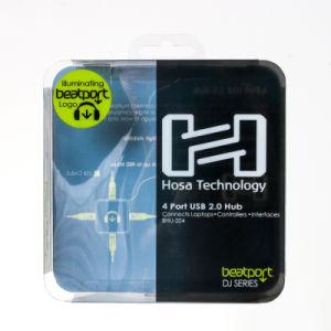 Mode écouteurs en plastique transparent d'emballage