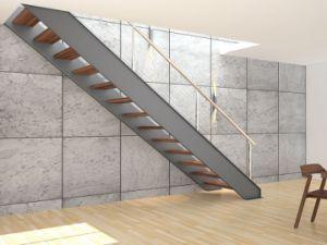 De moderne trap van het glas van het ontwerp de de moderne trap