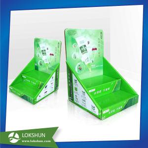 Bancada de papelão Display, Visor de Promoção de supermercado rack, caixa de exibição PDQ