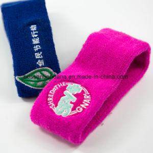 工場農産物はロゴの刺繍のスポーツ赤いタオルの汗ヘッドバンドをカスタマイズした