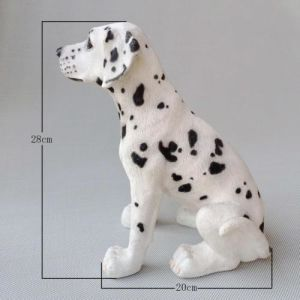 La simulación de resina de perros dálmatas encantadora decoración decoración Moda creativa