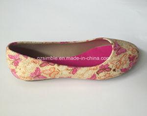 Bonita Tela Tela plana de zapatos de ballet para niñas