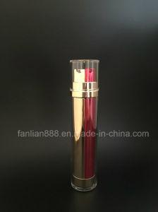 Frascos de loção Double-Barrelled acrílico para embalagem de cosméticos