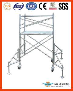 Sistema de andaimes de moldura de aço com design econômico