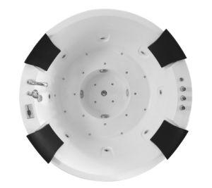 Forme ronde Salle de bains familiale Bonne qualité Baignoire de massage en acrylique couleur blanche (M-2057)