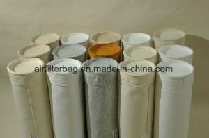 Sacchetto filtro antistatico del feltro dell'ago del poliestere (mescolato con fibra elettrica) per il collettore di polveri industriale