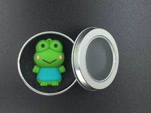 Silicone Cartoon Frog Unidade Flash USB Pen Drive Pendrive Memory Stick 4 GB 8 GB de 16GB, 32GB USB 2.0 U Armazenamento em Disco