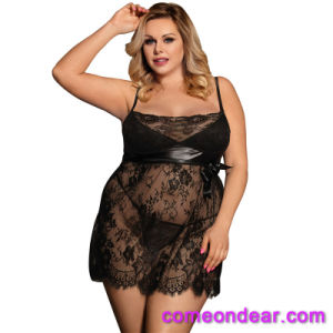 Plus la taille sur la vente de matières grasses femmes Cupless Bustier Lingerie Sexy montrant la tétine