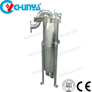 Polimento do espelho SS304 Saco de entrada superior do alojamento do filtro