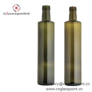 Bottiglia quadrata all'ingrosso dell'olio di oliva di vetro verde di 750ml Marasca