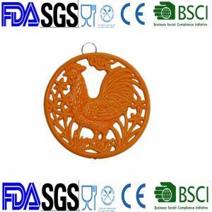 Gallo Trivet de hierro fundido con revestimiento de esmalte de la fábrica China