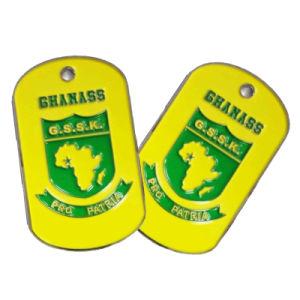 Druckguss-Zink-Legierungs-Dekoration kundenspezifische Ghanass Firmenzeichen-Metallhundeplakette (016)