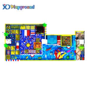 Parc de loisirs à thème de l'océan intérieur Aire de jeux de diapositives en plastique