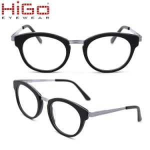 Mistura de acetato de Óptica Higo Armações de óculos de metal óculos  graduados ea14f5e811