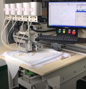 Perle rotonde del diamante del reticolo automatizzate CNC che attaccano macchina per l'indumento
