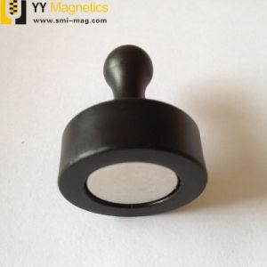 多彩なプラスチックディスク円形のネオジム磁気押しPin