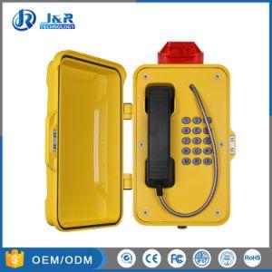 Монтироваться на стену водонепроницаемый телефон с мигающим светом сигнальная лампа для промышленности, влагостойкие туннеля телефон