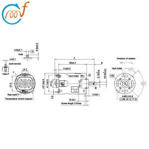 Motor eléctrico de 120V-12260 RS-9812shf motor DC, para licuadora