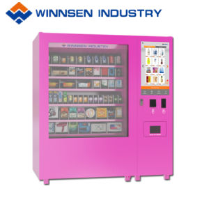 Produtos hortícolas frescos alimentos salada de fruta máquina de venda automática com função de líquido de arrefecimento