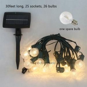 Wetterfestes SolarG40 Goble LED Zeichenkette-Licht für im Freiendekoration
