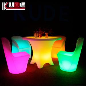 El cambio de color LED Restaurante cena silla y mesa muebles Restaurante