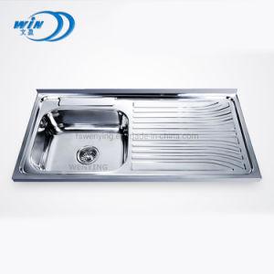 1000*500 mm solo Bowl con Drainboard fregadero de acero inoxidable con precio de fábrica