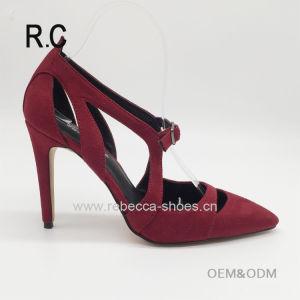 Les femmes Stiletto haut talon chaussures sexy fashion Parti rouge personnalisé Point sandales