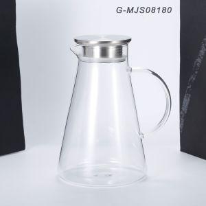 la brocca di vetro 1.8L con il coperchio, l'acqua ha ghiacciato il Carafe della bevanda del tè