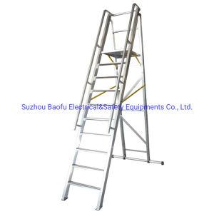 Fácil de mover la escalera de plataforma de aluminio de 8 ft.