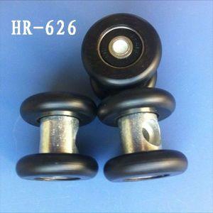 Ruedas de nylon doble deslizante de la rueda de rodillo rodillo de puerta colgantes