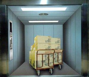 Maschine Roomless Fracht-Höhenruder-Maschine