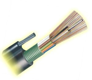 48 base aérienne de tête de câble de fibre optique (GYTC8S)
