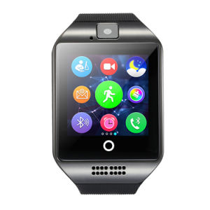 2018 het Hete Verkopende Slimme Horloge van Amazonië Q18 met GSM van de Groef van de Kaart SIM