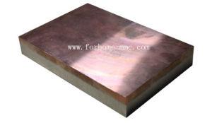 Plaque plaquée en aluminium d'en cuivre de soudure d'explosion